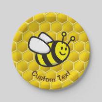 Honeybee Cartoon Paper Plate