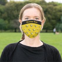 Honeybee Cartoon Pattern Adult Cloth Face Mask