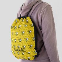 Honeybee Cartoon Pattern Drawstring Bag