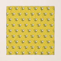 Honeybee Cartoon Pattern Scarf