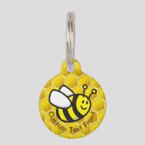 Honeybee Cartoon Pet ID Tag