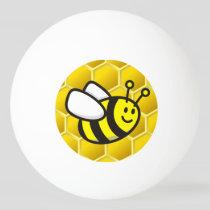 Honeybee Cartoon Ping Pong Ball
