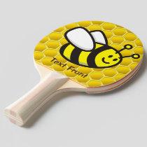 Honeybee Cartoon Ping Pong Paddle