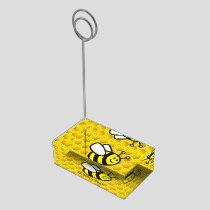 Honeybee Cartoon Place Card Holder