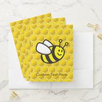 Honeybee Cartoon Pocket Folder