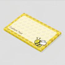 Honeybee Cartoon Post-it Notes