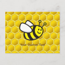 Honeybee cartoon postcard