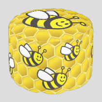 Honeybee Cartoon Pouf