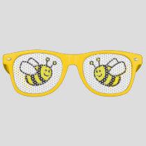 Honeybee Cartoon Retro Sunglasses