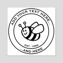 Honeybee Cartoon Rubber Stamp
