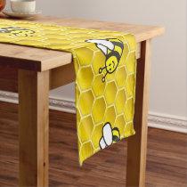 Honeybee Cartoon Short Table Runner