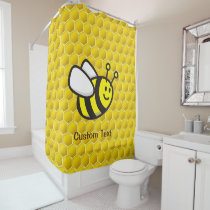 Honeybee Cartoon Shower Curtain