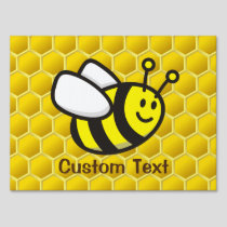 Honeybee Cartoon Sign