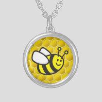 Honeybee Cartoon Silver Plated Necklace