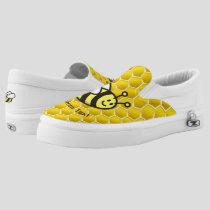 Honeybee Cartoon Slip-On Sneakers