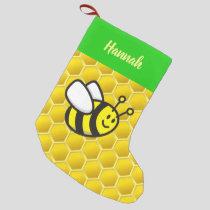 Honeybee Cartoon Small Christmas Stocking
