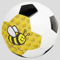 Honeybee Cartoon Soccer Ball