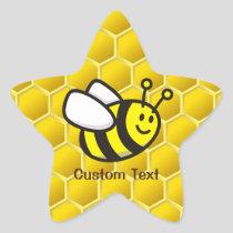 Honeybee Cartoon Star Sticker