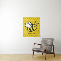 Honeybee Cartoon Tapestry