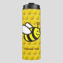 Honeybee Cartoon Thermal Tumbler