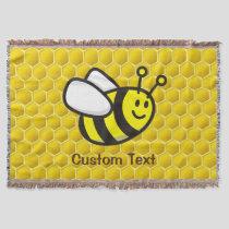 Honeybee Cartoon Throw Blanket