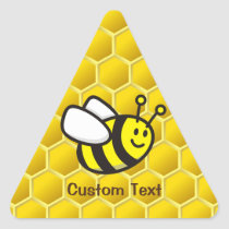 Honeybee Cartoon Triangle Sticker