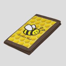 Honeybee Cartoon Trifold Wallet