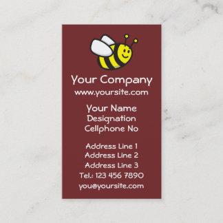 Honeybee Cartoon Vertical Business Card
