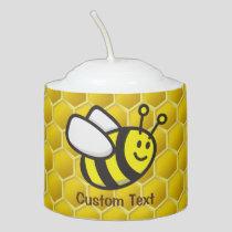 Honeybee Cartoon Votive Candle