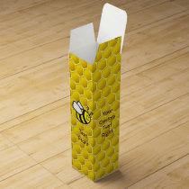 Honeybee Cartoon Wine Box