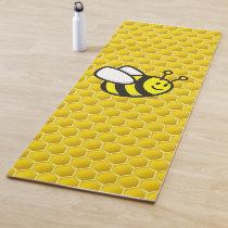 Honeybee Cartoon Yoga Mat