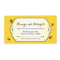 Honeybee Handmade Return Address Shipping Label