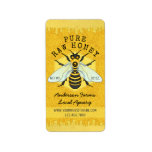 """Honeybee Honey Jar Apiary Labels 