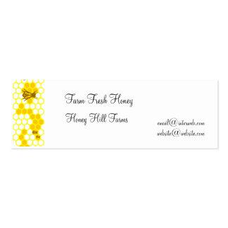 Honeybee Honeycomb Custom Business Tags Mini Business Card