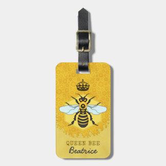 Honeybee Honeycomb Queen Bee Bumblebee Custom Name Luggage Tag