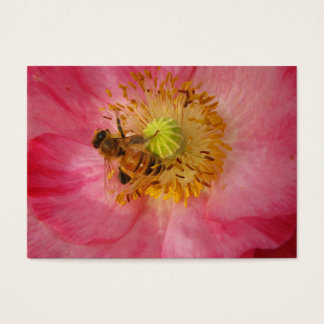 Honeybee in the Poppy ATC Business Card