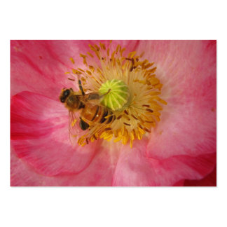 Honeybee in the Poppy ATC Large Business Card