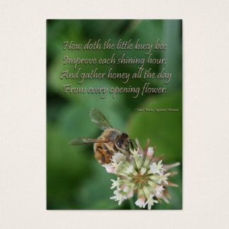 honeybee Issac Watts quote - perseverance,endure Business Card