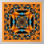 HoneyBee Kaleidoscope Poster