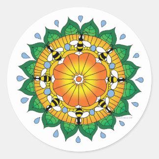 Honeybee mandala sticker