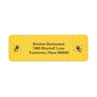 Honeybee Mother to Bee Baby Shower Label