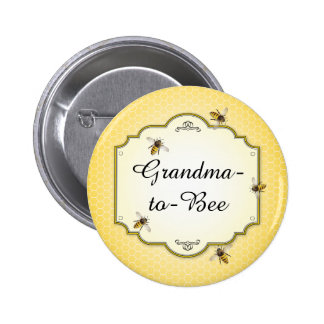 Honeybee Mother to Bee Baby Shower Role Button