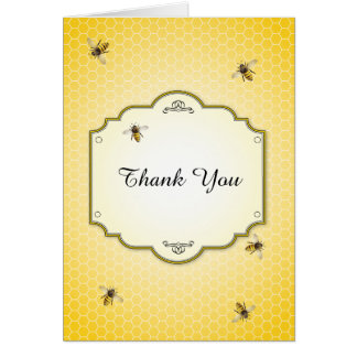 Honeybee Mother to Bee Baby Shower Thank You Card