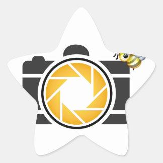 Honeybee on a Digital camera Star Sticker