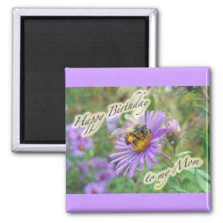 Honeybee on Asters Birthday Coordinating Items Magnet