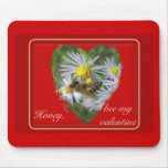 Honeybee on Asters Valentine Mouse Pad
