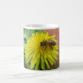 Honeybee on Dandelion Coffee Mug