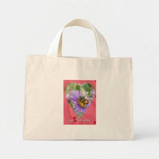 Honeybee on Fall Asters Valentine Mini Tote Bag