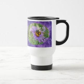 Honeybee on Fall Asters Wildflower Series Travel Mug