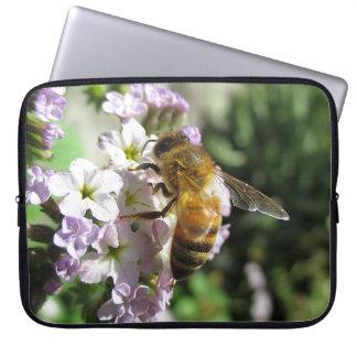 Honeybee on Heliotrope Laptop Sleeve